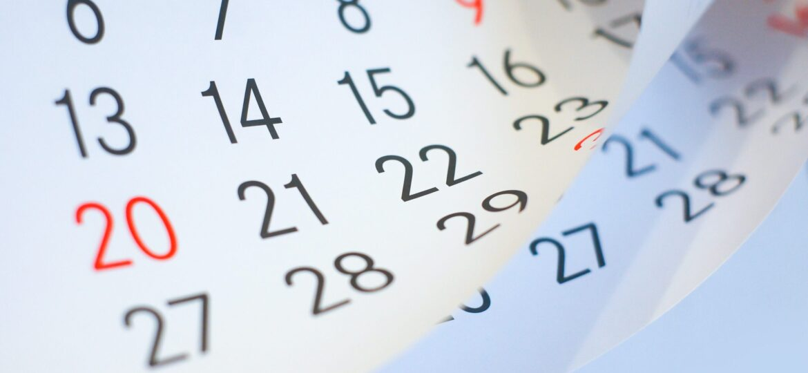 Image of a calendar page being turned